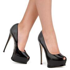 Womens Platform High Heel Shoes Open Toe Party Sandals Stilettos Pumps Big Size