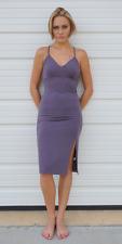 Spaghetti Strap Fitted Slip Dress | Midi S M L NWT Active USA D2896