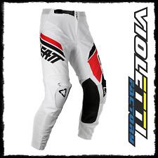 PANTALONI GPX 4.5 WHITE BLACK LEATT pantaloni enduro cross bianco bianchi