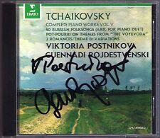 POSTNIKOVA, ROZHDESTVENSKY Signiert TCHAIKOVSKY 50 Russian Folksongs Voyevoda CD