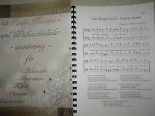 43 Sankt-Martins- und Weihnachtslieder für Cello - zweistimmig