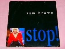 "VINYL 7"" SINGLE - SAM BROWN - STOP! - AM 440"