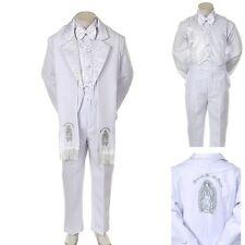 New Baby Toddler Kid Child Boy Church Christening Baptism Tuxedo Suit S-7 White