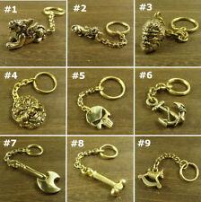 Solid Brass Keychains Key pendant keyrings Key chain Holder