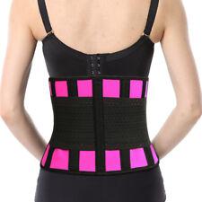 Tissbely Waist Training Corset Women's Girdle Shaper Workout Cincher Pink Black