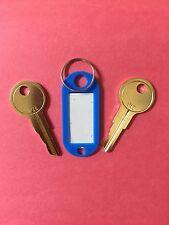 2 HON File Cabinet keys 101R-150R Keys Made By Locksmith With Key Tag