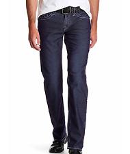 True Religion Men's Flap Straight Corduroy True Navy Brand Jeans MX3859TS