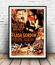 Flash Gordon: anuncio de película vintage reproducción, Afiche, Pared Arte.