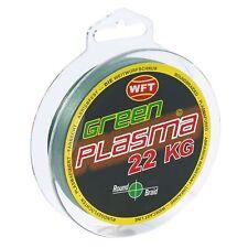(0,15€/m) WFT Plasma Green rund geflochtene Angelschnur 150m Farbecht Grün