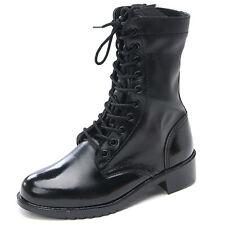 Men's Shoes Lace Up side zipper Combat Boots US5.5 -US11.5 real leather shoes