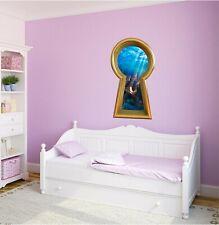 3D Keyhole Wall Decal King Neptunes Trident Ocean Sea Fantasy Kids Room Decor