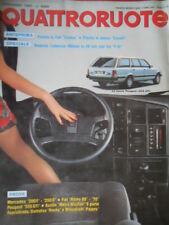 Quattroruote 361 1985 Prove Mercedes 200E-250D, Fiat Ritmo 60-70.Fiat Croma