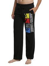 Mens Womens NEW DC Justice League Team Black Pajama Lounge Pants Size S-2XL