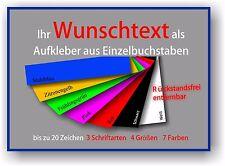 """Aufkleber """" Wunschtext"""" Sticker Autoaufkleber Schrift Klebefolie Buchstaben #776"""