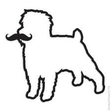 Affenpinscher Mustache Decal Sticker Choose Pattern + Size #3927