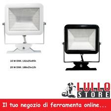PROIETTORE FARO FARETTO LUCE FREDDA LED 4000K SUPER SLIM COLORO BIANCO/NERO