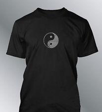 Tee shirt Ying Yang M L XL XXL homme or noir gold chrome carbone jean denim