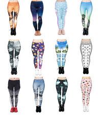 Womens 3D Digital Graphic Fashion Leggings