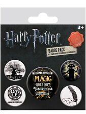 Anstecker-Paket Harry Potter Symbols