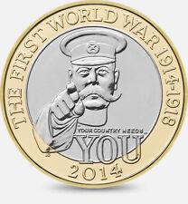 First World War 1914-1918 - Great Britain £2 coins
