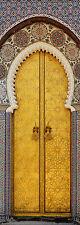 Papier peint pour porte trompe l'oeil déco Porte orientale réf 621