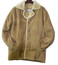 Men Genuine Suede Leather Bonded Fur Warm Jacket
