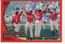 2010 TOPPS FACTORY SET RED HOUSTON ASTROS #38 /299