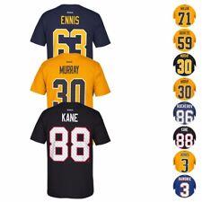 "NHL Reebok Team Player Name & Number ""Tri-Matrix"" Jerey T-Shirt Collection Men's"