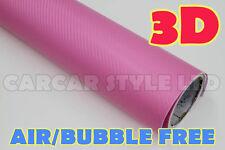 3D Fibra Di Carbonio Rosa 2m (78.7 in) x1.52 m (59.8 in) Veicolo Avvolgere Adesivo Vinile Pellicola