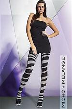 Gemusterte Strumpfhose Zebra 100 DEN Micro+Melange