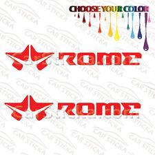 """2 of 8"""" Rome Snowboard /A snowboard car window bumper stickers decals die cut"""