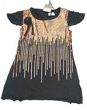 Girls rosette designer sequin dress - various sizes - BNWT