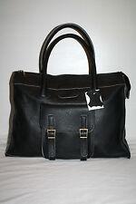 real leather handbag large satchel bag laptop case business black brown camel