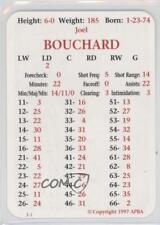 1997-98 APBA #JOBO Joel Bouchard Calgary Flames Hockey Card