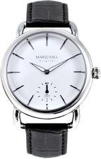 Marschall Original Herren-Funkarmbanduhr Doble Acero Blanc Armbanduhr Funkuhr