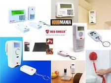 Red Shield Wire Free Home Security Intruder Burglar Alarm System Remote & PIR