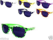 Marijuana Sunglasses Black Lenses Weed Hemp Assorted Frame Colors