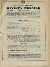 CLUB ALPINO ITALIANO - DAL N. 3-4 MARZO 1960 AL N. 11-12 DEL DICEMBRE 1961