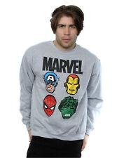Marvel Homme Comics Main Heads Sweat-Shirt