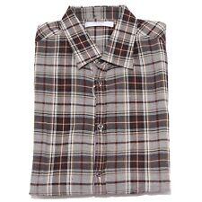 5474U camicia uomo AGLINI RICCARDO3 brown/beige shirt men