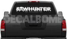 """Bowhunter Skull """"Outline"""" Decal Sticker Hunt Diesel Turbo UTV ATV Cross Bow"""