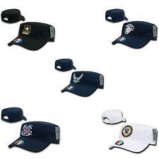 US Military Air Force Army CG Marines Navy Cotton BDU Cadet Hats Caps Hat Cap