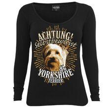 Femmes Chemise manches longues yorkshire terrier dogs race begleithund les chiens de chasse chien de garde