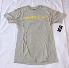 NEW O'NEILL T Shirt (Tee)  100% Authentic Light Gray-  Skate Skateboard & Surf