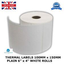 "Thermique étiquettes 100 mm x 150 mm Uni 6"" x 4"" Blanc Rolls-HERMES, Royal mail neuf"