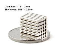 "2mmx0.5mm Neodymium Disc Magnets - 2x0.5mm - 2*0.5mm 1/12""x1/48"" Fridge Magnets"