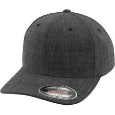 Flexfit FINE MELANGE Stretchable Curved Cap - noir