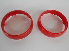 Acento anillos Smart Fortwo revestimiento para reloj cuentarrevoluciones rojo