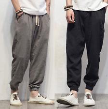 Mens Summer Fashion Loose Casual Sweatpants Trousers Sport Linen Harem Pants New