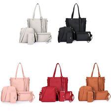 Womens Fashion Tassels Wallet Card Holder Handbag Crossbody Bag Cheap 4Pcs Sets